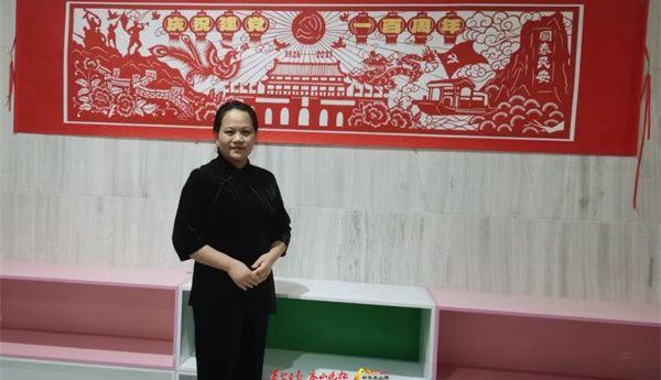 20种元素、10种剪纸手法……历时近两个月,泰山剪纸传承人赵英创作2.6米剪纸作品向建党百年献礼